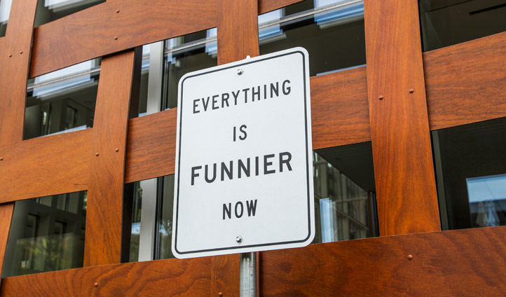 'Everything is funnier' sign, Aspen
