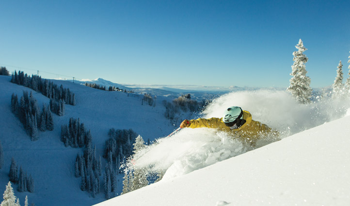 A skiier in Aspen