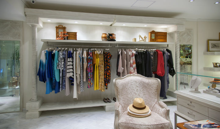 Take a trip to the quaint boutique to admire the stunning clothes