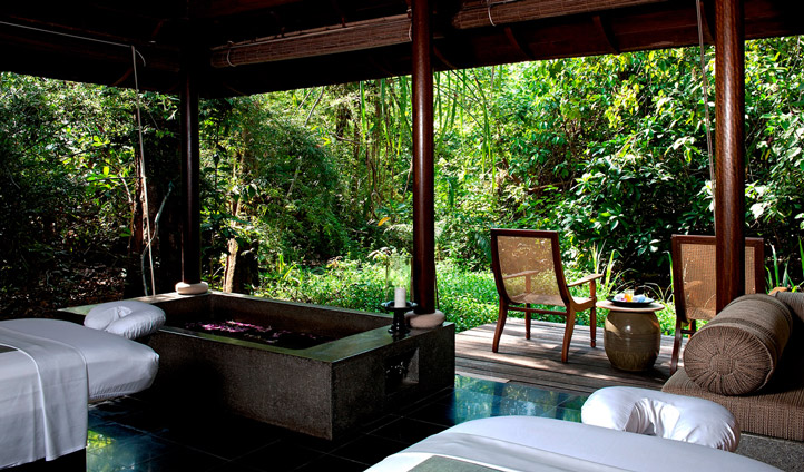 Enjoy a spa treatment at the Datai