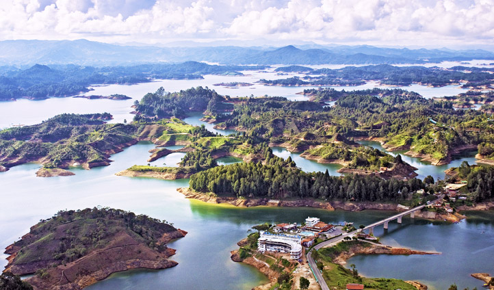 The lakes of Guatape, Colombia
