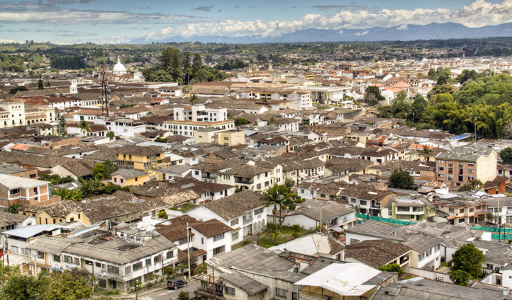 The city of Popayan, Colombia