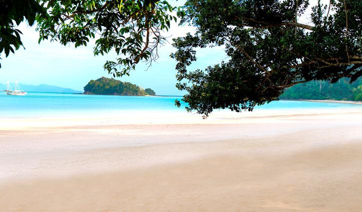 Pristine white sands of Datai Bay