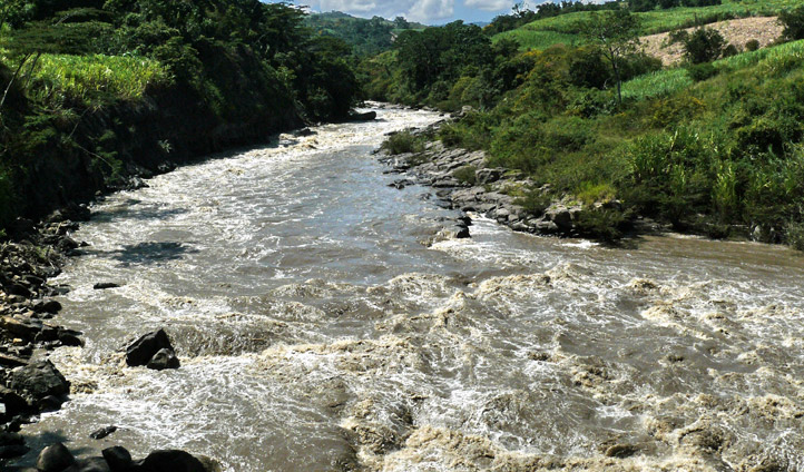 The Rio Suarez River in Colombia
