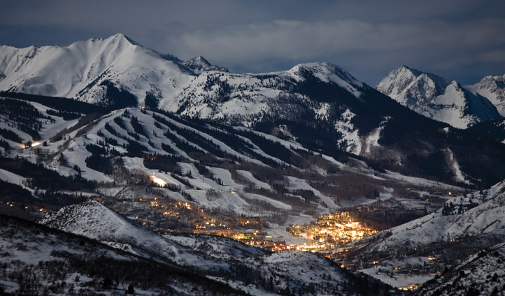 Snowmass Village by night