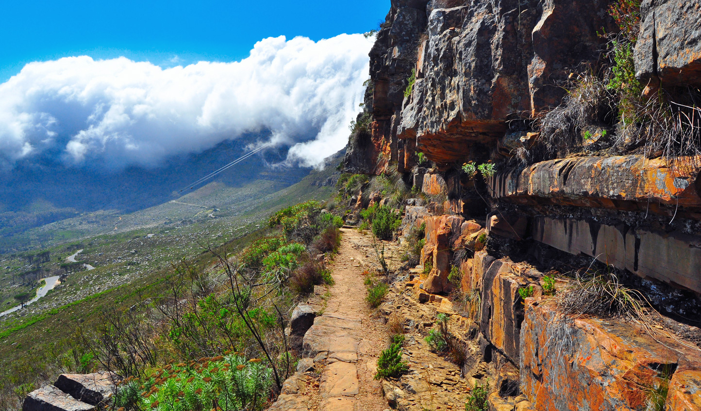 An action packed start to the day as you trek up Table Mountain