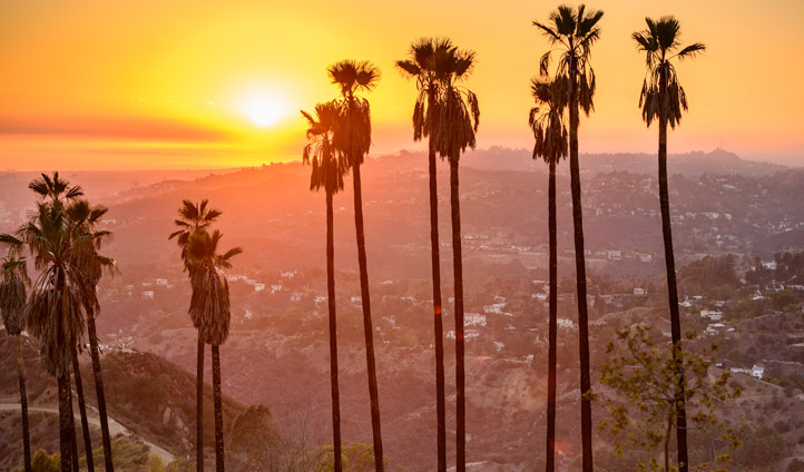 A sunset in LA, USA