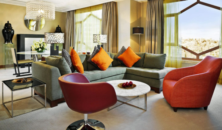 Open spaces in a luxury suite