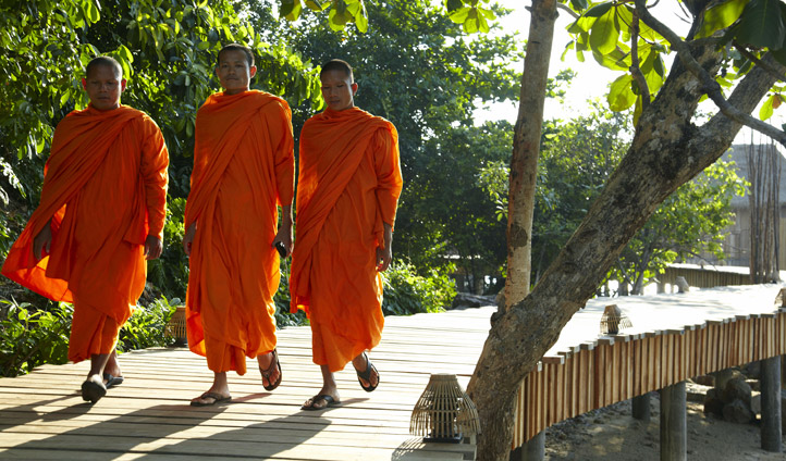 Local monks at Song Saa