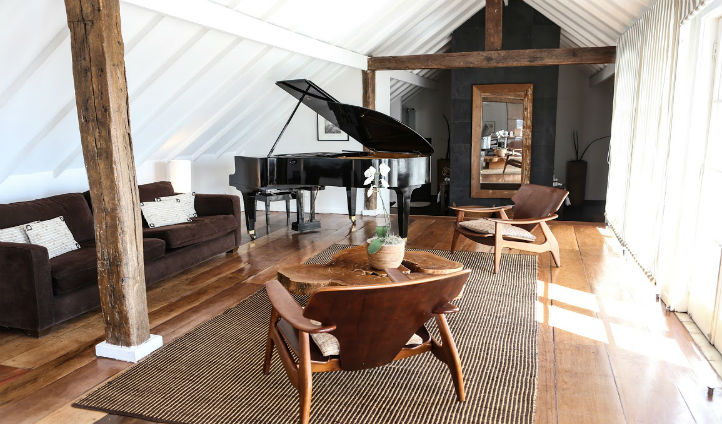 Practice your piano skills in your luxurious penthouse suite