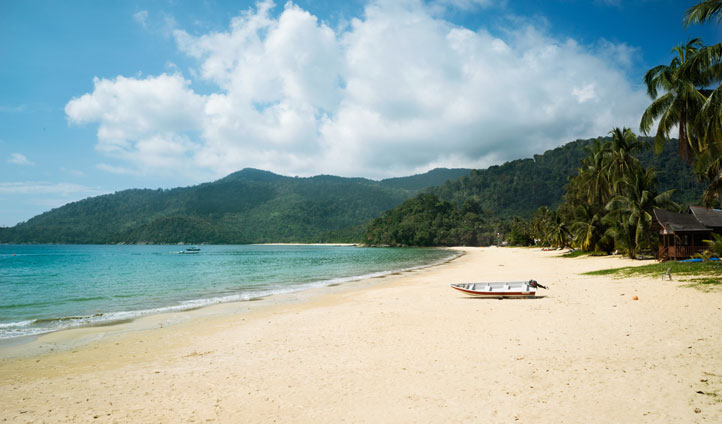 Leave your foot prints on the soft sand at Tioman Island