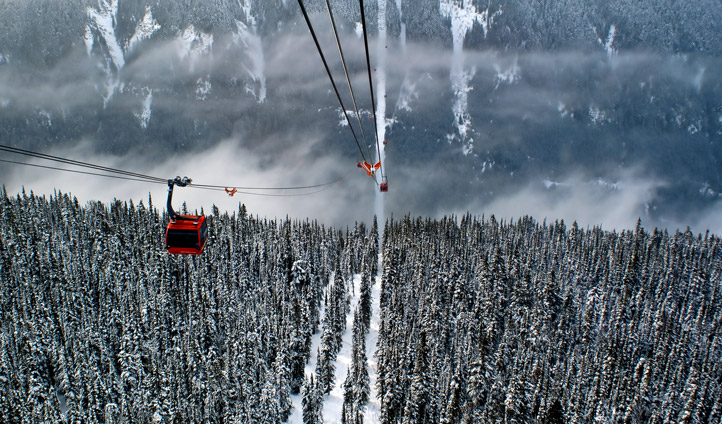 Take in spectacular views as you ride the gondola