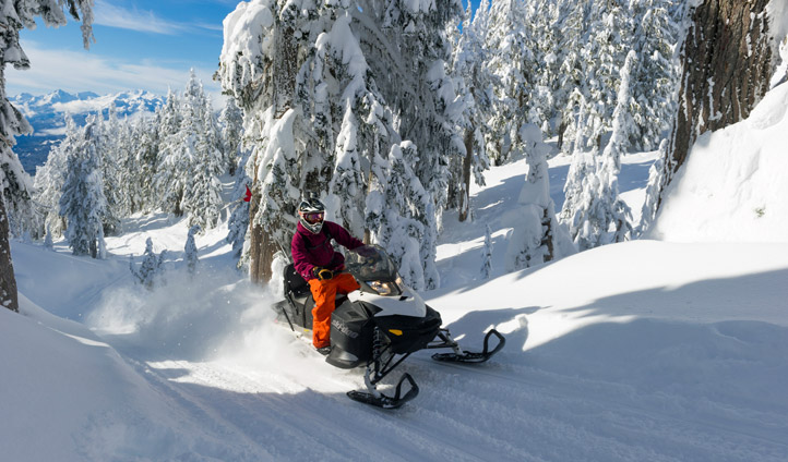Snowmobile your way through uncharted terrain