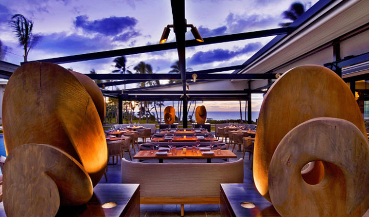 Dine and watch the sun go down at the Morimoto restraunt