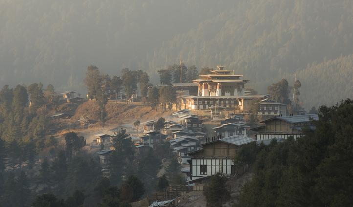 The imposing Gangtey Lodge