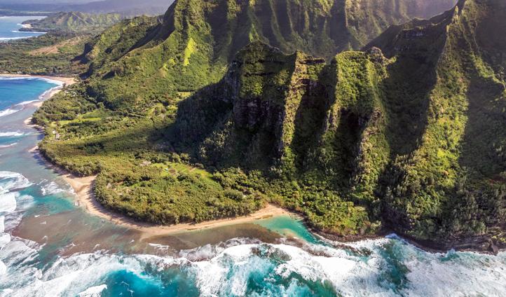 The stunning Kaui coast