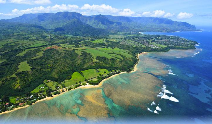 The stunning and remote Kauai coastline