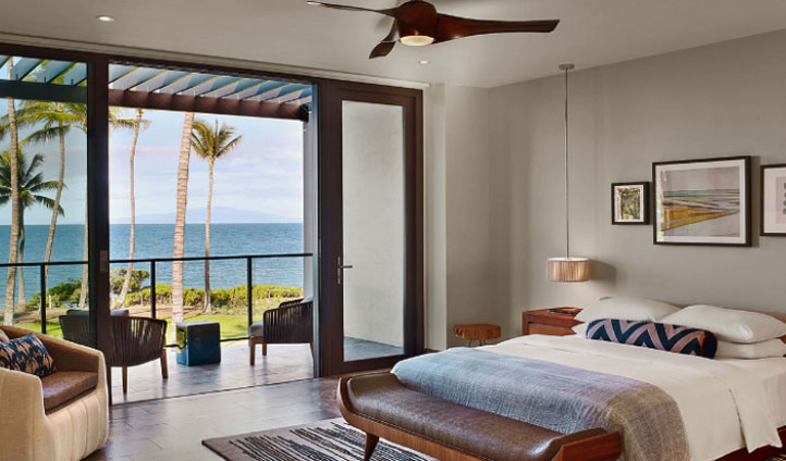 Lie in bed or on your personal lanais and look out to the crystal clear waters