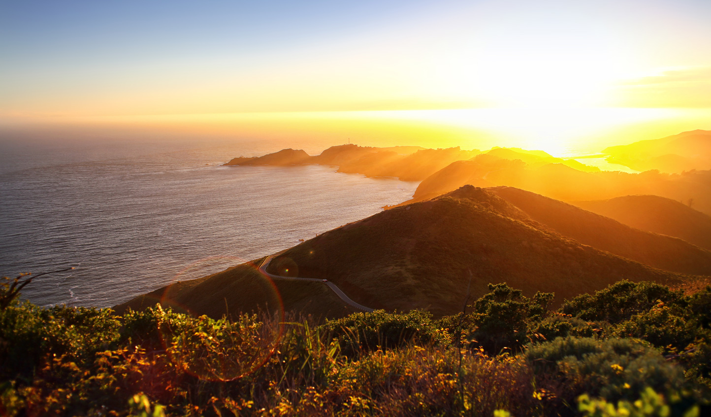 Head out on a sunset hike for an energising start to your day