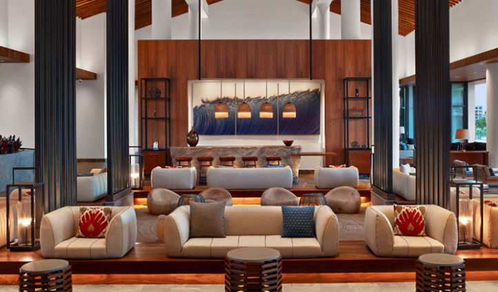 Kick back and catch up on one of the lobby sofas