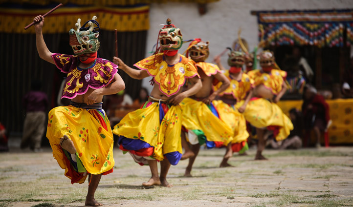 Submerge yourself in the local culture with traditional Bhutanese Dancers