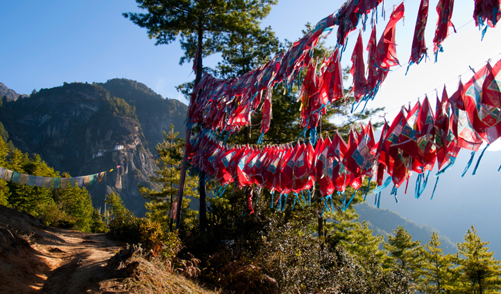 Hike up through the Paro valley for spectacular views