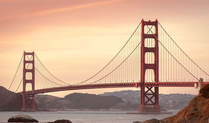 Bike across the iconic Golden Gate Bridge