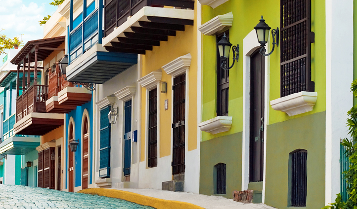 Colorful Old San Juan in Puerto Rico