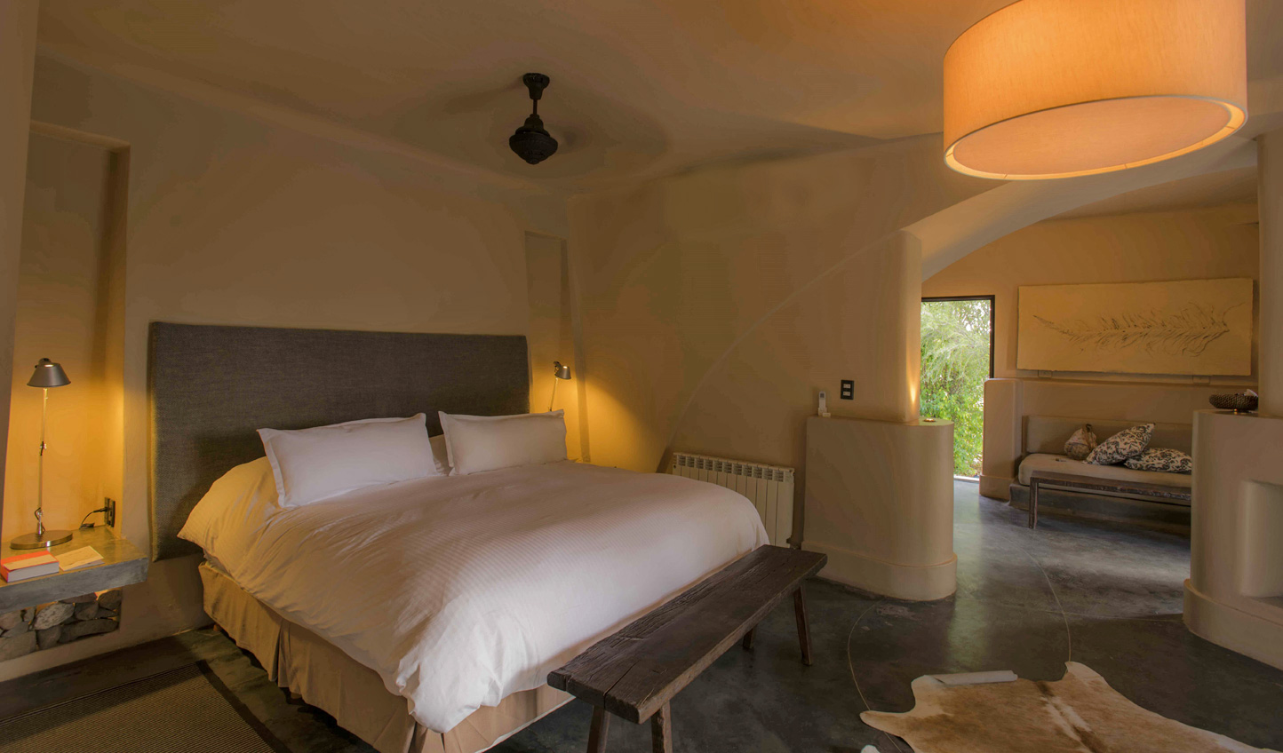 Spacious rooms await you after days out among the vines