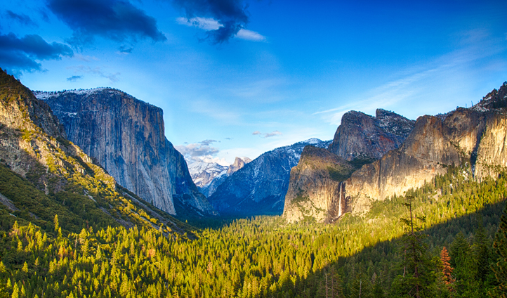Gaze at the views of the Yosemite Valley