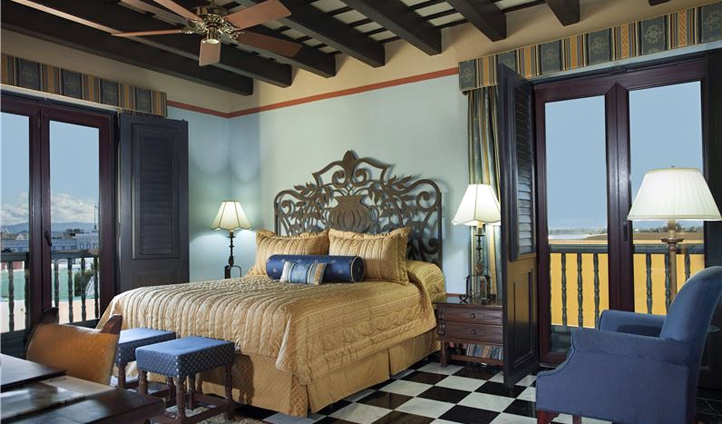 A suite at the hotel in Puerto Rico