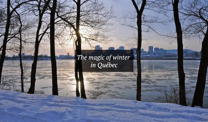 Snowy Quebec, Canada