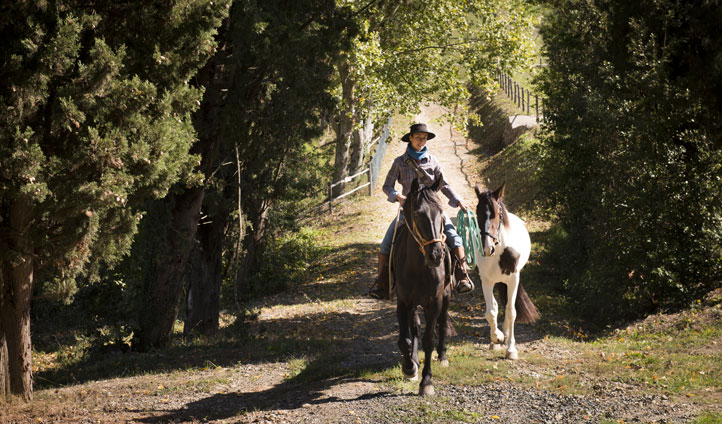 Want to explore? Take a horse trek through the rambling Tuscan hills
