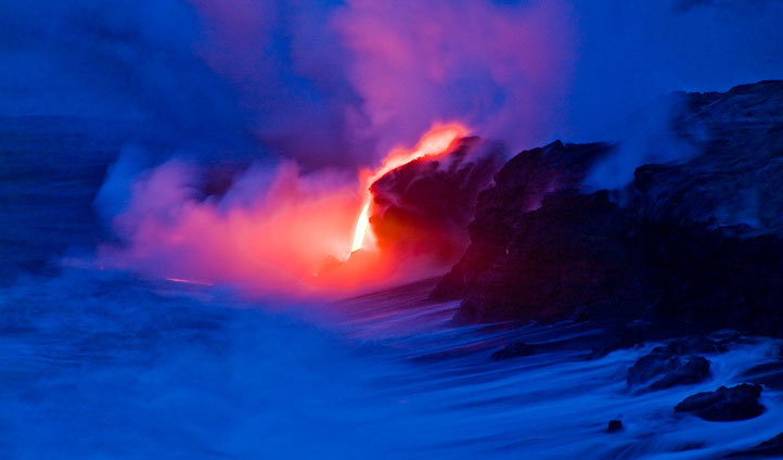 A view you shall never forget, as the lava glows after the sunsets