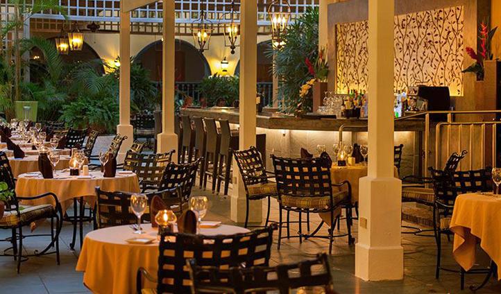 Dining at El Convento, Puerto Rico