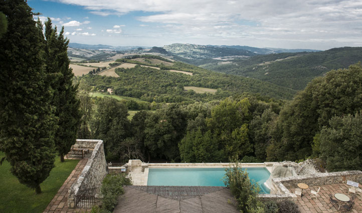 views over tuscan hills