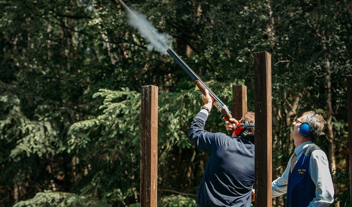 Practice your shot and have a go at clay pigeon shooting