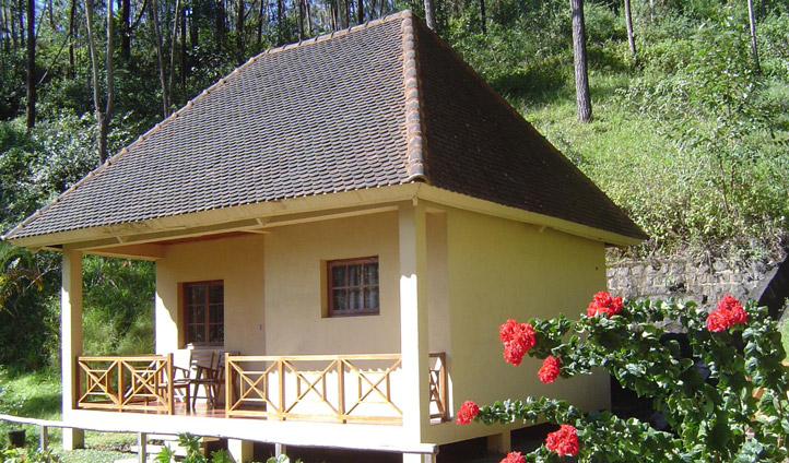 Settle into your private bungalow at Vakona Lodge