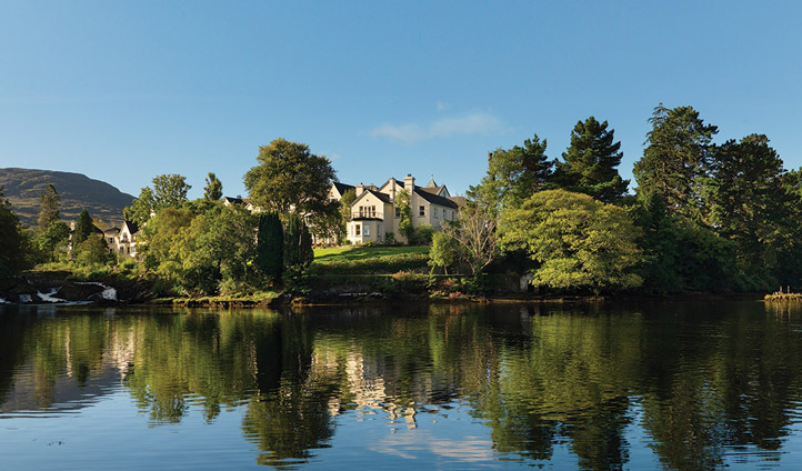Set right on the water's edge there's nothing more relaxing than the Sheen Falls Lodge