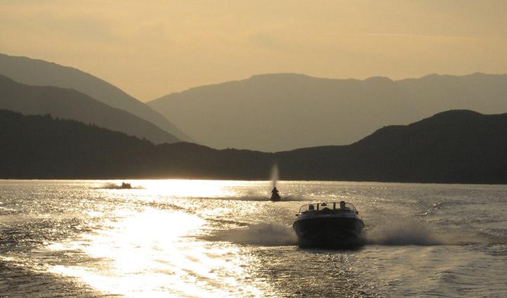 Rev it up a bit on a luxury speed boat
