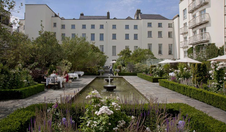 Escape the hustle and bustle of the city in The Merrion's courtyard