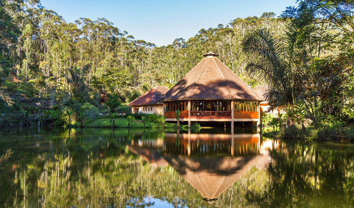 Nestled in the jungle, the Vakona Forest Lodge is a hidden paradise