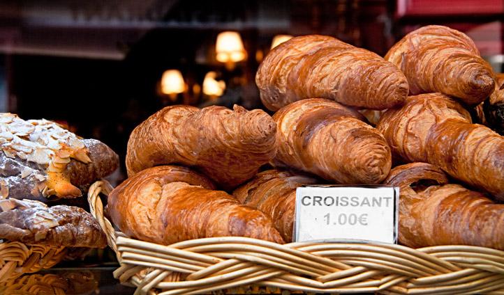 Enjoy buttery croissants from a local Parisian boulangerie