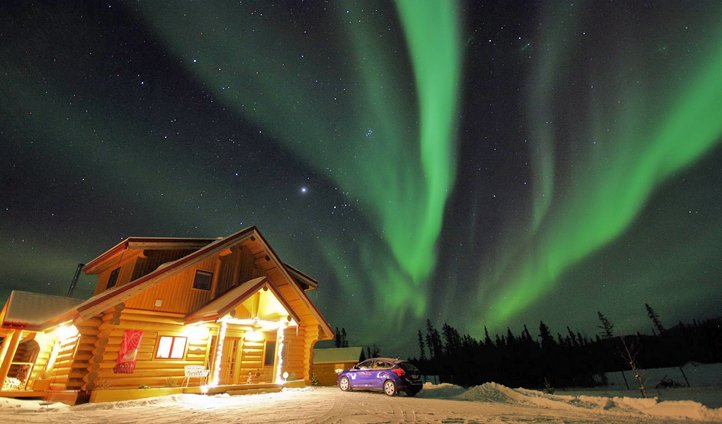 Northern lights in Yukon, Canada