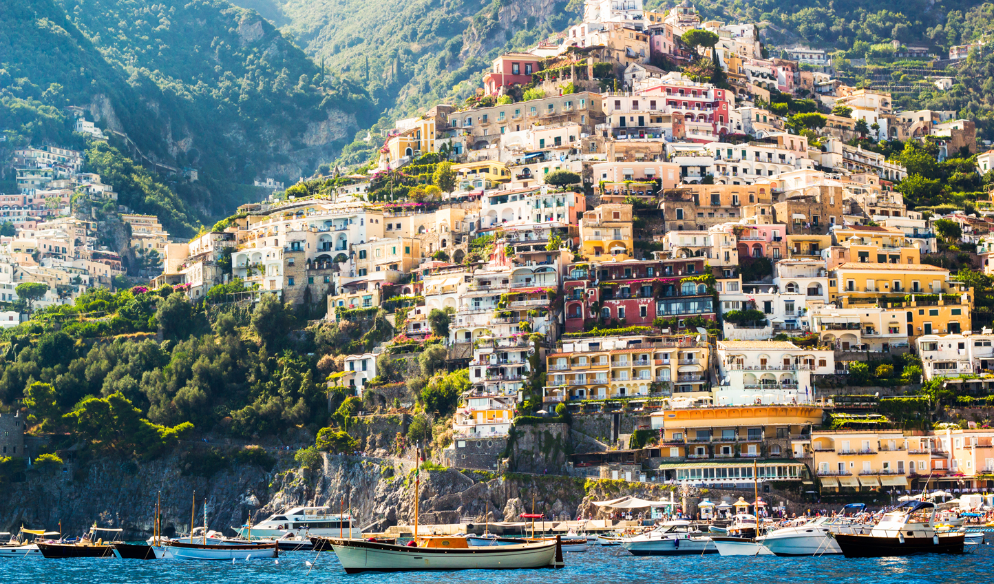 Sail up the glittering Amalfi Coast