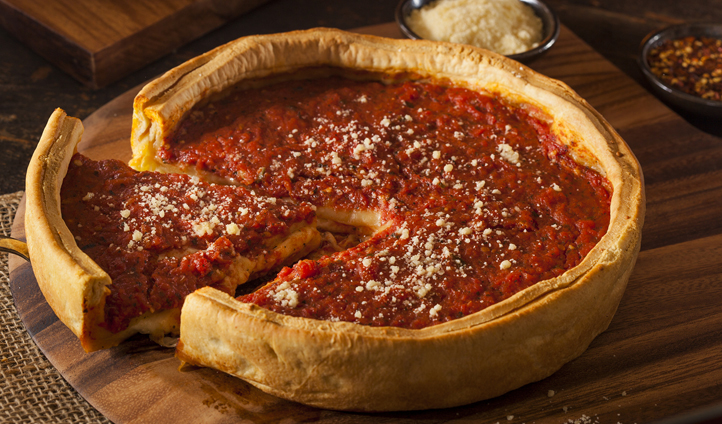 Be sure to try a deep dish pizza