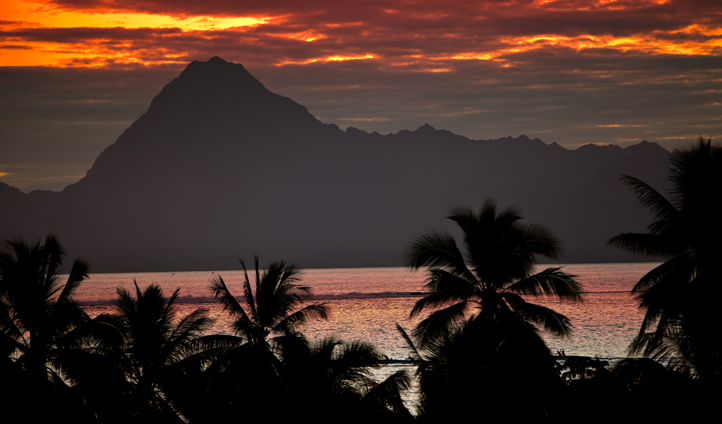 Sunset in French Polynesia