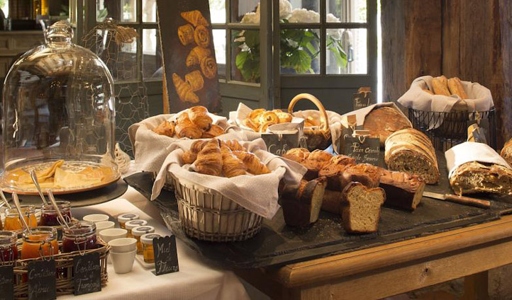 Delve into the fresh baked local breakfast
