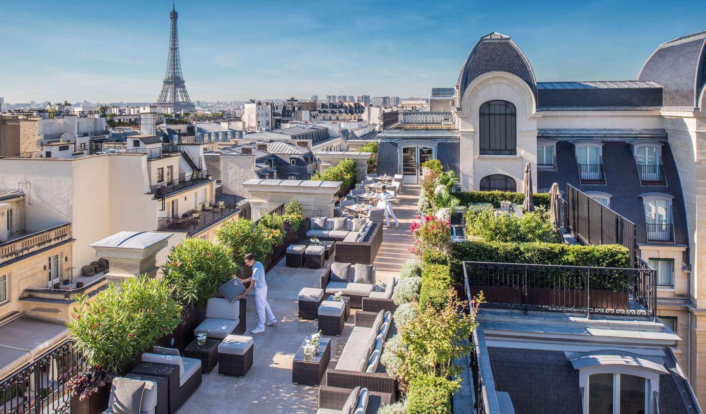 Head to Le Rooftop for spectacular views of Paris and the Eiffel Tower