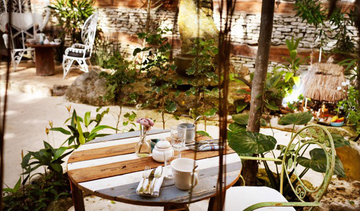 Sit in the shade and shake away those morning cobwebs with a fresh coffee